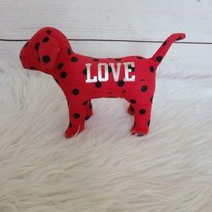 PINK Red And Black Poka Dots Love Collectors Dog